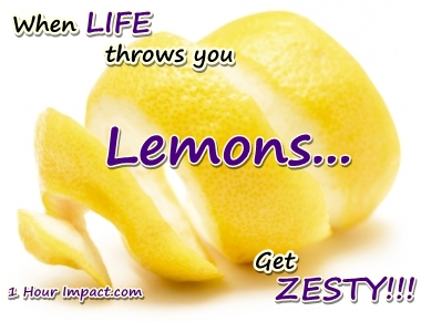 When LIFE Throws You LEMONS…Get ZESTY!!!