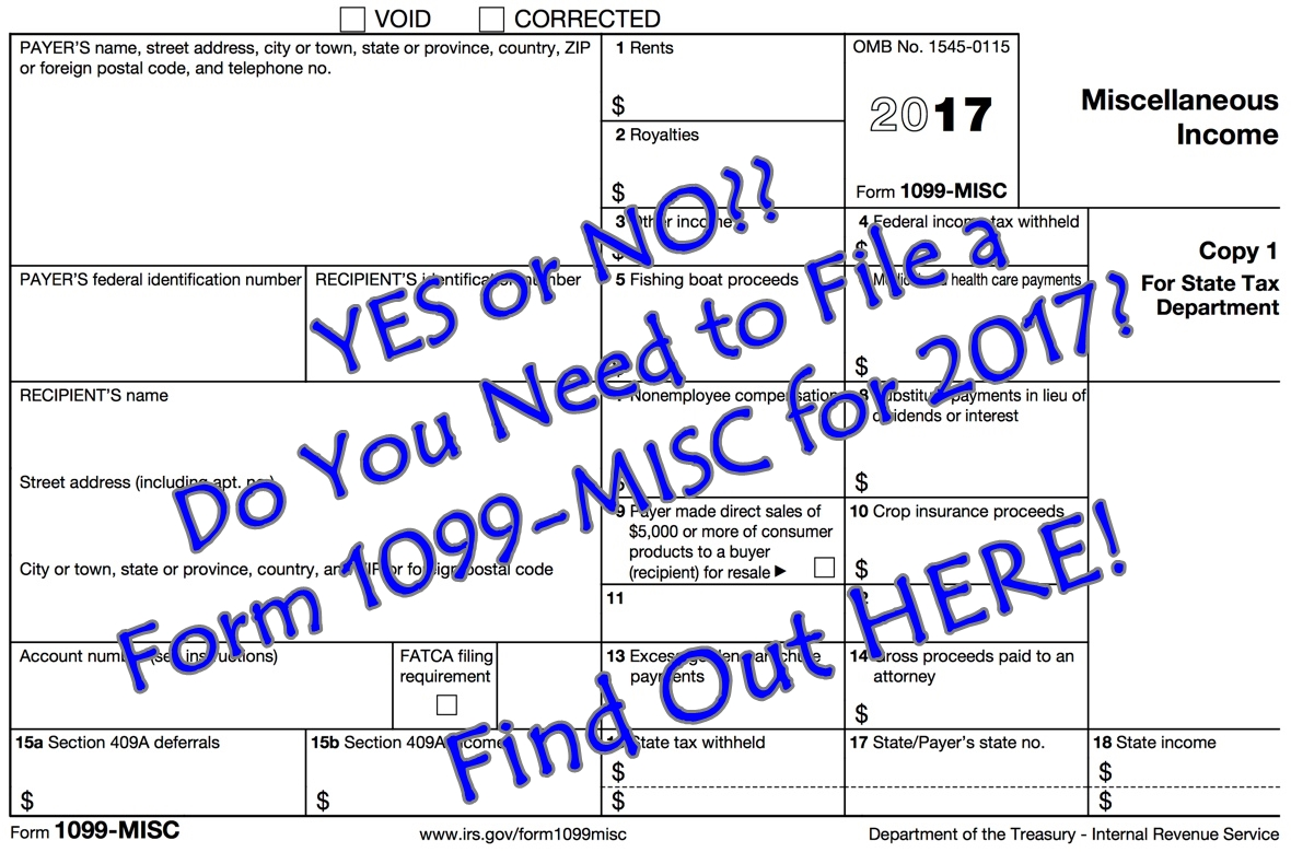 Yes or no do you need to file a form 1099 misc for 2017 find out do you need to file a form 1099 misc for 2017 find out here 1 hour impact falaconquin